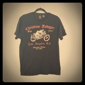 Christian Audigier vintage Cafe motorcycle t shirt